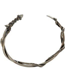 Silver Sword & Snake Bracelet