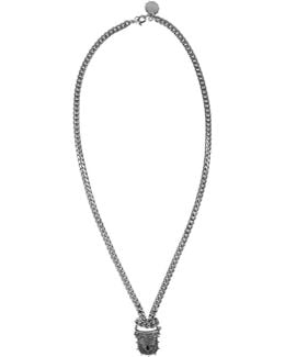 Silver Padlock Chain Necklace