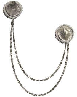 Silver Double Cap Brooch