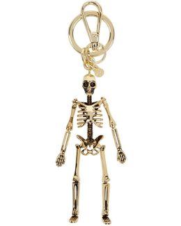 Gold Skeleton Keychain