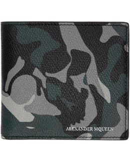 Blue Camouflage Wallet