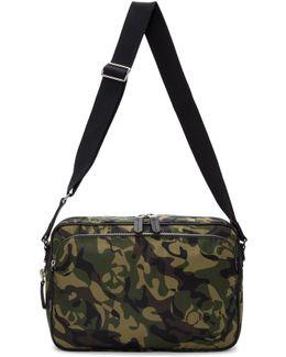 Green Camo Messenger Bag