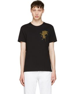 Black 'coat Of Arms' T-shirt