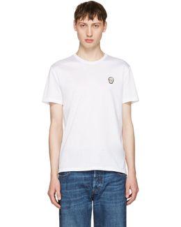 White Bullion Skull Patch T-shirt