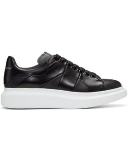 Oversized Panelled Leather Sneakers