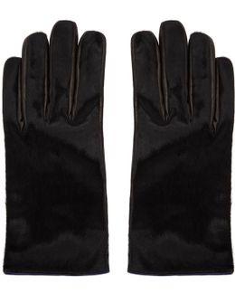 Black Calf Hair Gloves