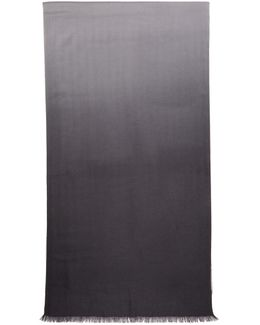 Grey Cashmere Dip-dye Scarf