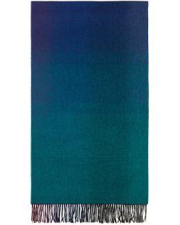 Blue Watercolor Scarf