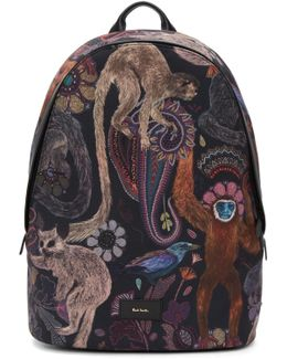 Multicolor Monkey Backpack