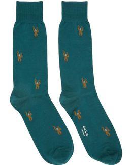 Green Monkey Socks