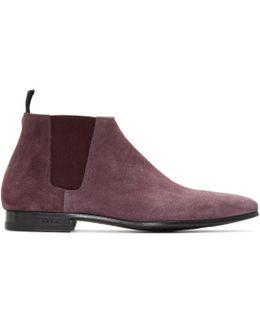 Burgundy Suede Marlowe Chelsea Boots