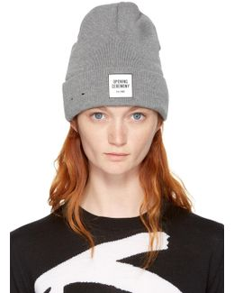 Grey New Era Edition Logo Beanie