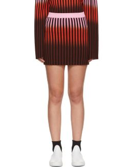Multicolor Dip Dye Striped Miniskirt