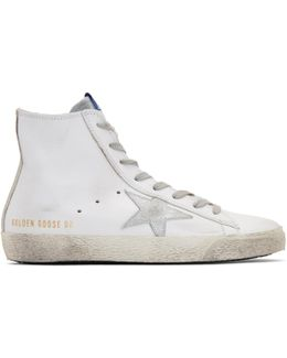 White & Silver Francy High-top Sneakers