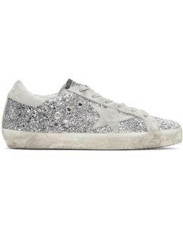 Superstar Glitter And Suede Sneakers