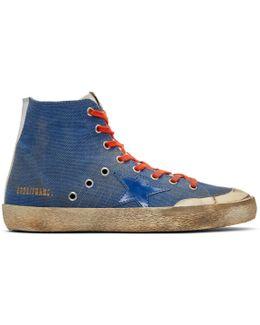 Indigo Canvas Francy High-top Sneakers