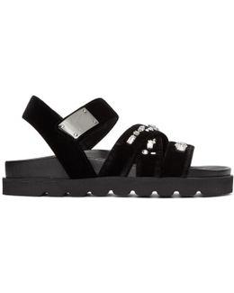 Black Velvet Rimba Sandals