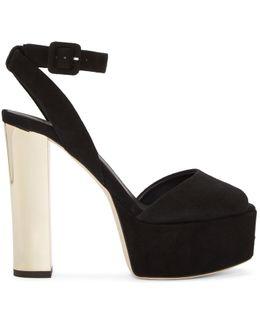 Black Suede Lavinia Platform Sandals