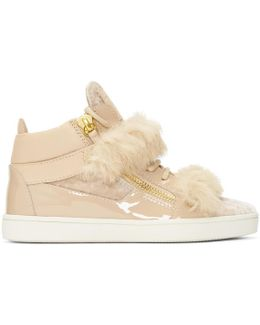Pink Patent & Velvet Brek Mid-top Sneakers