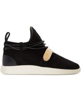 Black Suede Singleg Sneakers