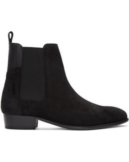 Black Suede Watts Chelsea Boots