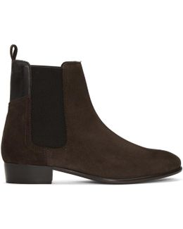 Brown Suede Watts Chelsea Boots