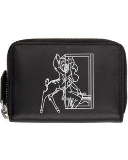 Black Mini Bambi Zip Wallet