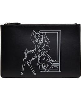Black Medium Bambi Pouch