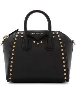 Black Mini Studded Antigona Bag