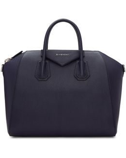 Navy Medium Antigona Bag