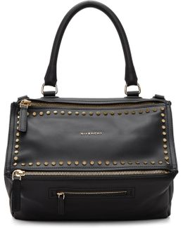 Black Studded Medium Pandora Bag