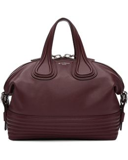 Burgundy Small Biker Stitching Nightingale Bag