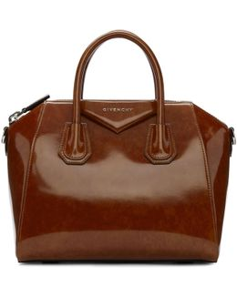 Brown Small Glazed Antigona Bag