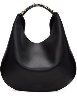 Black Infinity Hobo Bag