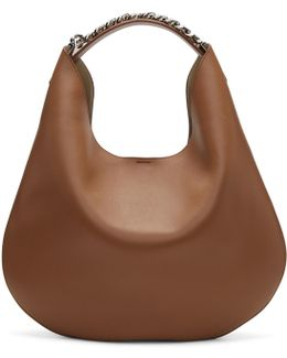 Tan Infinity Hobo Bag