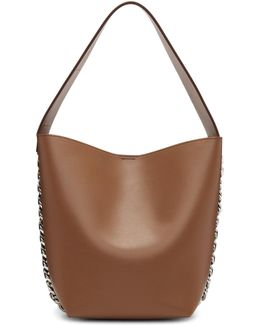 Tan Infinity Bucket Bag