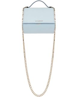 Blue Mini Pandora Box Chain Bag