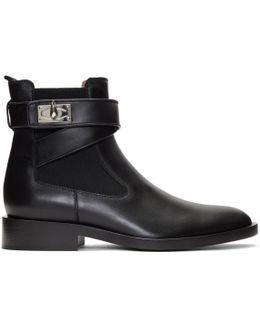 Black Shark Lock Boots