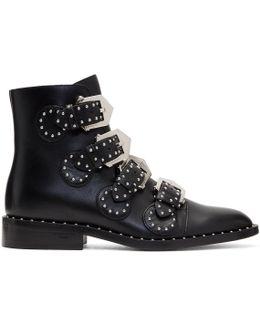 Black Studded Elegant Boots