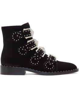 Black Suede Elegant Boots
