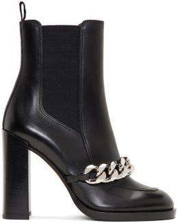 Black Chain Chelsea Boots
