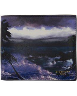 Multicolor Blue Hawaii Wallet