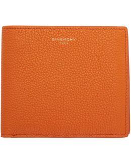 Orange Leather 8cc Wallet