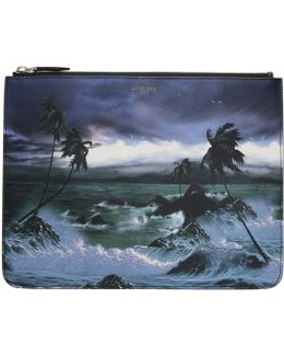 Multicolor 'blue Hawaii' Pouch