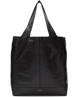 Black George V Leather Tote
