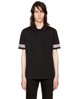 Black Logo Sleeve Polo
