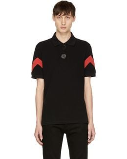 Black & Red Oversized Polo