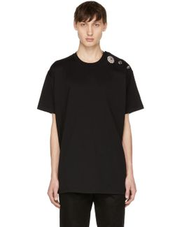 Black Crystal Buttons T-shirt