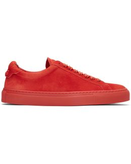 Red Suede Urban Knots Sneakers