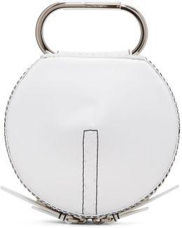 White Alix Circle Clutch